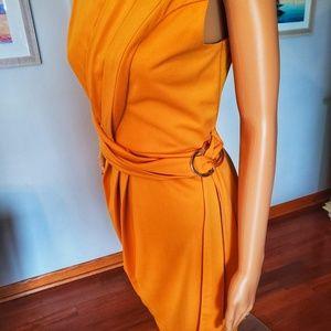 NWOT London Dress Company mustard yellow dress
